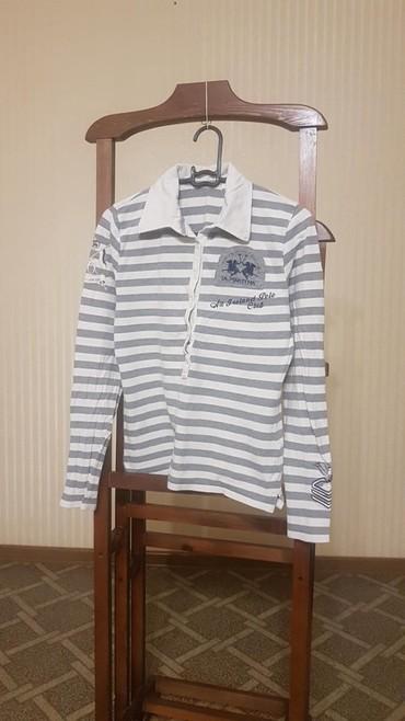 женская рубашка размер м в Кыргызстан: Женское поло с длинными рукавами La Martina, размер М. Б/у. Из