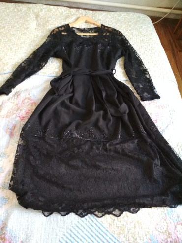 Красивое платье с кружевом, хорошего качества,Турция.48 р-ра 1500с в Бишкек