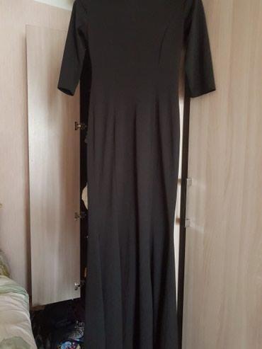 длинное платье карандаш в Кыргызстан: Платье черное длинное