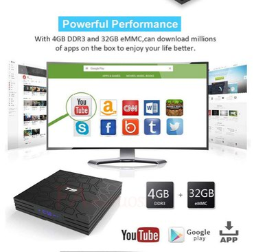 Smart TV Box - T9 - 4/32GB - Bluetooth - Android v8.1 - Sremska Mitrovica