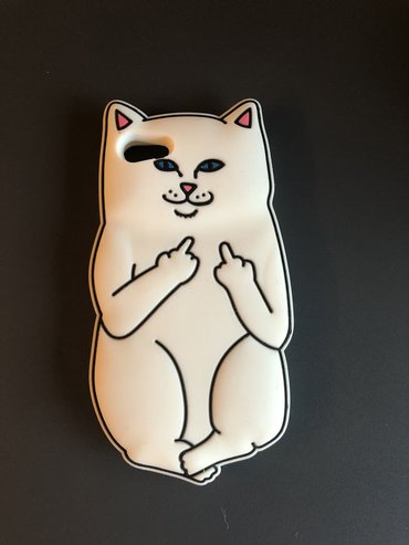 батарейка-на-айфон-7 в Кыргызстан: Чехол с котом на iphone 7(айфон 7)