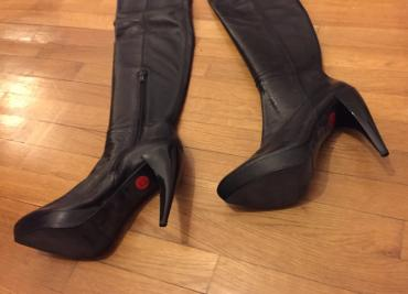 Zara high knee length high heels black leather boots . New , never σε Βόρεια & Ανατολικά Προάστια - εικόνες 4