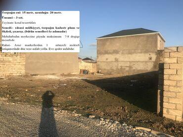 qaz satilir в Азербайджан: Mehdiabadda təcili 3 sot torpağın içərisində əla təmirli həyət evi sat
