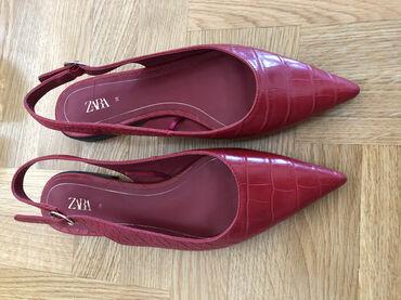Crvene kroko sandale u spic, Zarine, velicina 38, kaisic moze da se po