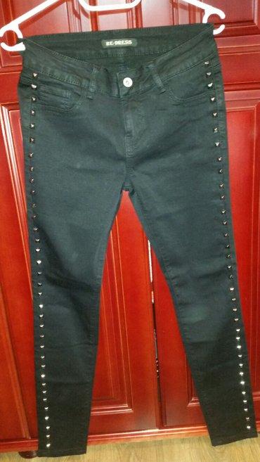 Crne pantalone sa nitnama, nove, samo je etiketa skinuta, imaju elasti - Veliko Gradiste