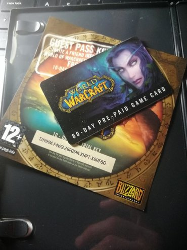 World of Worldcraft 60-Day Pre-Paid Game Card. Of course it's expired