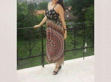 Svečana duga haljina, predivan materijal (žoržet) skupo plaćena, - Kragujevac