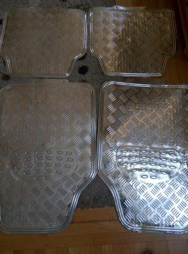 Patosnice univerzalne gumene silver metalik. Dimenzije prednjih 68, - Beograd