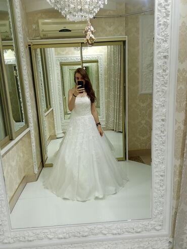 Свадебное платье ! На девушку, ростом 168-173 см. Открытый верх, сзади