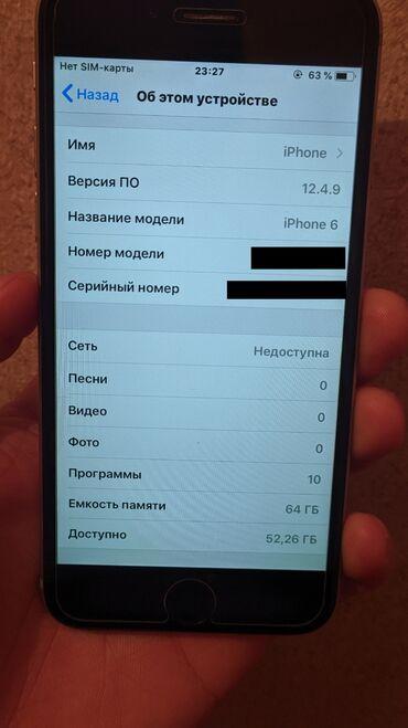 трещина в Кыргызстан: Б/У iPhone 6 64 ГБ Серый (Space Gray)