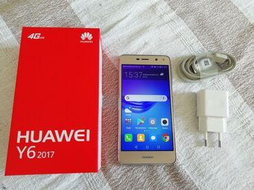 Dual sim - Srbija: Huawei Y6 2017 dual sim. Zlatni, veoma dobro očuvan. Otključan