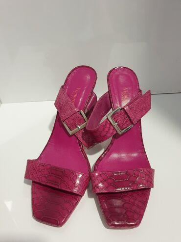 Ženske Sandale i Japanke - Crvenka: Vigneron paris papuče koža broj 41 ug 26,5cm. Jednom obuvene kao nove