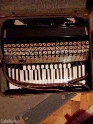 Harmonika hohner 120 basova sa koferom dobro ocuvana - Jagodina