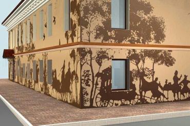 Художественный роспись интерьера экстерьера в Бишкек
