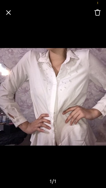 сорочка рубашка в Кыргызстан: Белая рубашка
