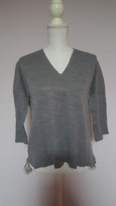 Majica pamucna-tanji duks sa v izrazom i 3/4 rukavima, nazad malo duza - Subotica