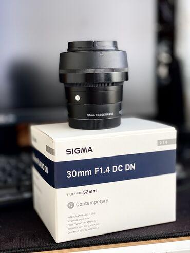 filter - Azərbaycan: Sigma 30MM f1.4 Contemporary Art Obyektiv Sony E mount ucun. Sonynun