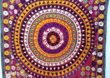 Старинное сюзане ручной работа на основе красного сатина. Размер: в Душанбе - фото 2