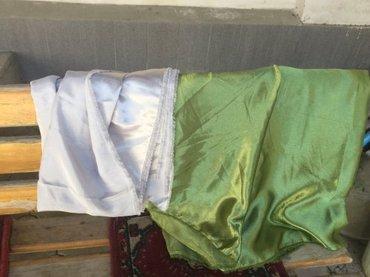 "Ткань атлас отрезы: ""серебро"" (3 метр), в Бишкек"