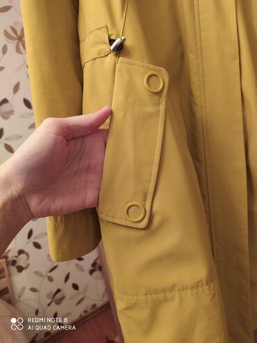 Продаю курточку. С карманами. Цвет горчичный. 46-48 размер. Ткань
