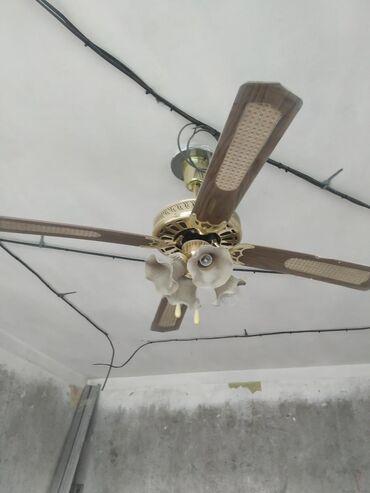 Люстра-вентилятор. 700 сом. Механизм рабочий, одна лопасть сломана