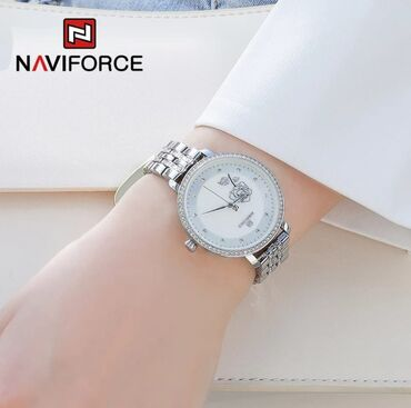 женские карго брюки в Азербайджан: Серебристые Женские Наручные часы NaviForce