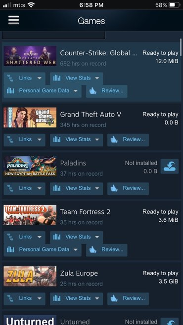 Steam account sa puno igrica