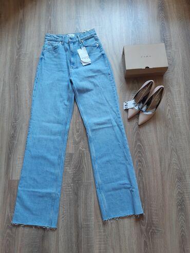 Женская одежда - Кыргызстан: Удлинённые джинсы Zara Новые. (прогадали с размером ) Размер: 38