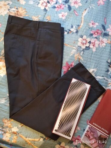 Мужс брюки в отл сост 48 р и новый галстук за 355