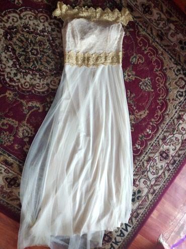 длинное белое платье в Кыргызстан: Качественный длинный платья только один раз одели