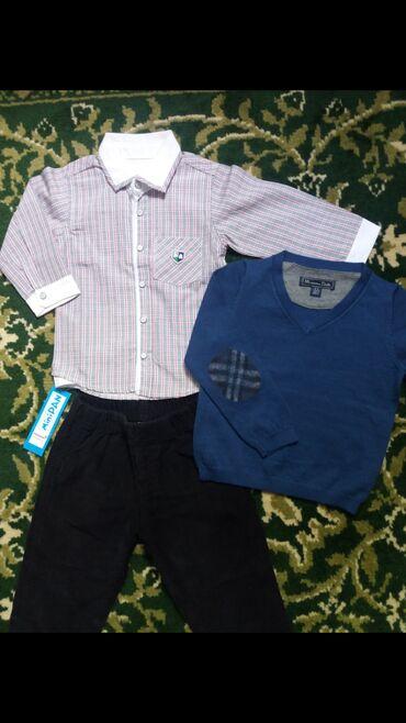 slipy-na-devochku в Кыргызстан: Новая рубашка (Турция) 18-24м, свитер (Massimo Dutti) 2-3г, б/у