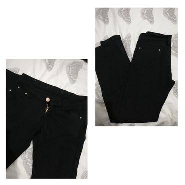 Crne pantalone uske - Srbija: Vip pantalone, br 29, uske. Tamno crne. Ne radi rajfešlus