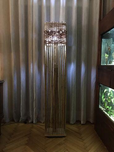 Podna Lampa od Bambusovog Drveta