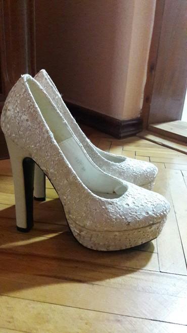 Ženska obuća | Novi Becej: Prelepe bez cipele, od cipke, nisu nosene, velicina 38