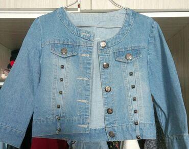 Куртки - Лебединовка: Джинсовая короткая куртка,состояние : как новая