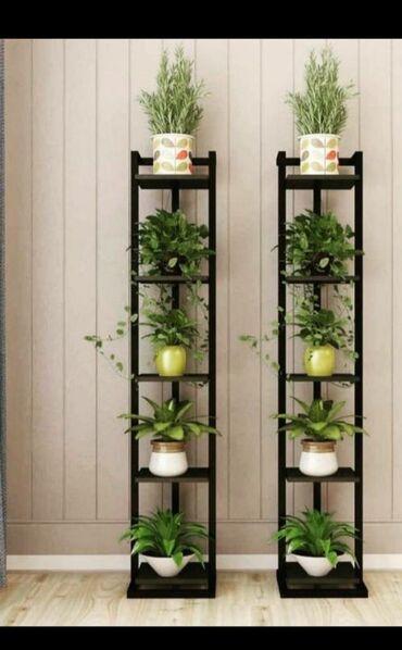 Tanke farmerice - Srbija: Police za cvece u industriskom stilu koje karakterišu visoko