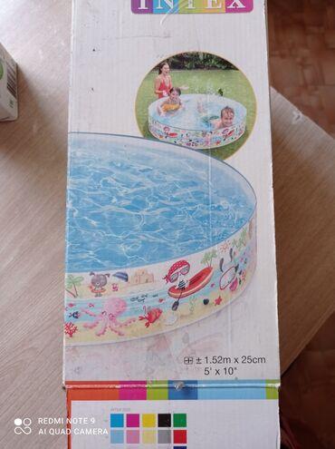 Спорт и хобби - Пригородное: Бассейн для детей. Почти не пользовались. 1,52 м*0,25м. Находимся мкр
