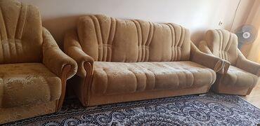Мебель - Беловодское: Договорная .  Продаю Диван с креслами в отличном состоянии
