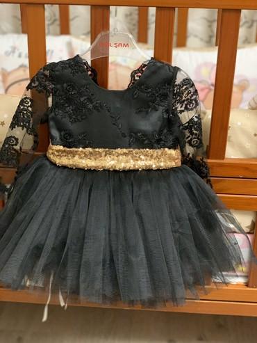шикарное маленькое черное платье в Кыргызстан: Шикарное Платье на девочку 4-6 мес. Новое, покупали в детском мире, не