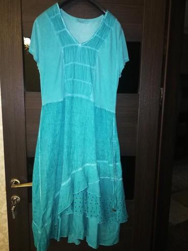 летнее платье лен в Кыргызстан: Платье лен р-46 Турция