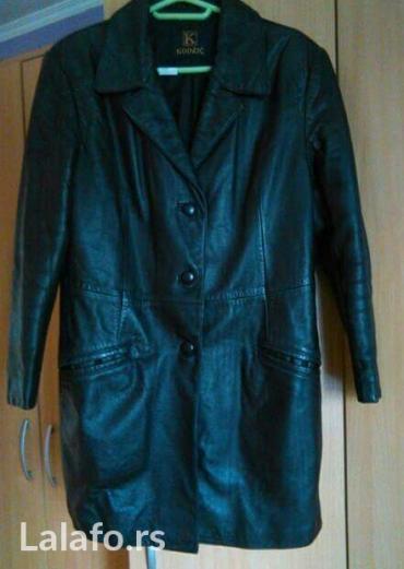 Benetton jakna - Pozarevac: Ženska kožna jakna, malo duža, vel. 40