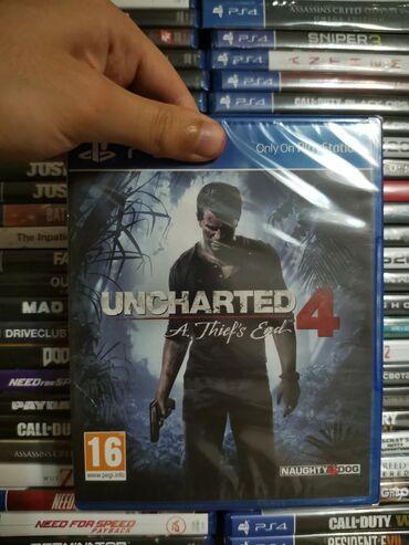 Ps4 oyunu. Uncharted. Təzə upokovkada orginal
