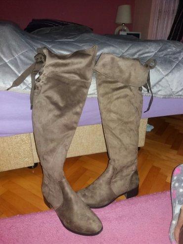 Čizme preko kolena kupljene pre dva meseca jednom obuvane broj 41 - Krusevac