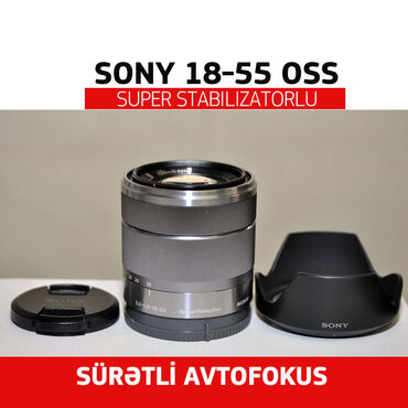 filter - Azərbaycan: Linza Sony E 18-55mm F3.5-5.6 OSS. Stabilizatoru var. Lensin heç bir