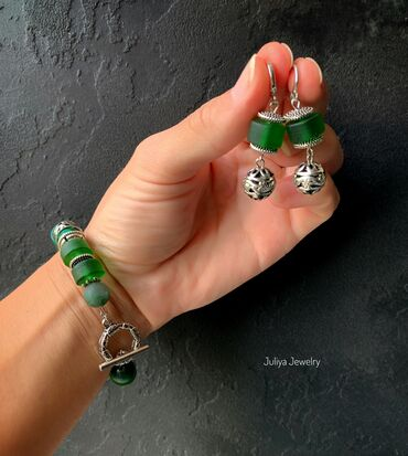украшения под водолазку в Кыргызстан: Авторские украшения Juliya Jewelry.Комплект ручной работы.Жемчуг