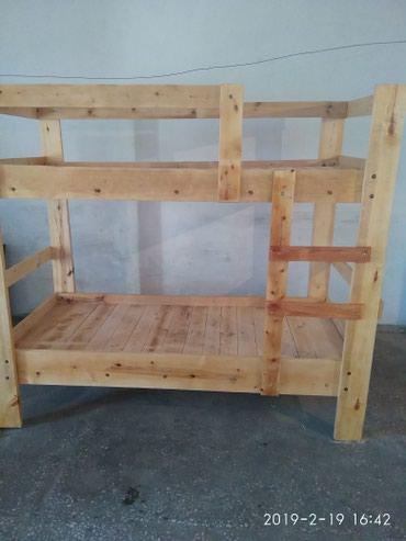 Двухъярусный кровать из дерева раз:190-90.обмен в Сокулук