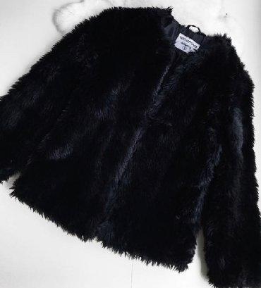 черная шубка в Кыргызстан: Продается шубка terranova из искусственного меха,одевалась лишь раз