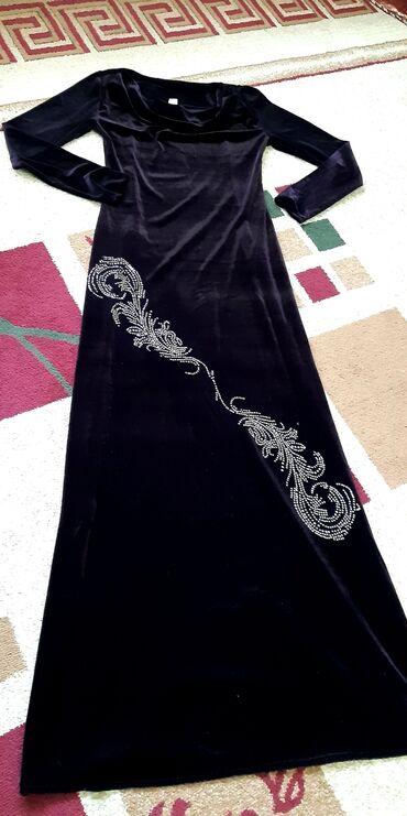 Бархатное платье в пол,цвет шоколадный,очень красиво сидит по