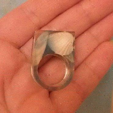эпоксидная смола цена в баку в Азербайджан: Кольцо из эпоксидной смолы ручной работы. El ishi ùzùk