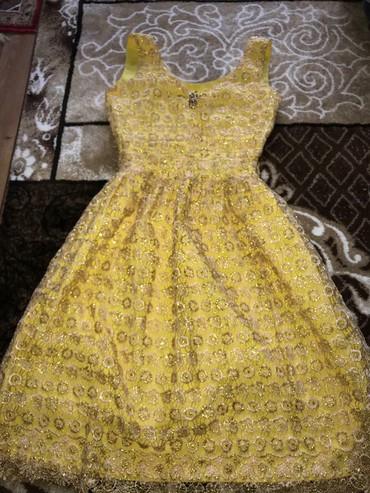 ПРОДАЮ Платье золотистого цвета Размер 42-44Сшито на заказОтлично